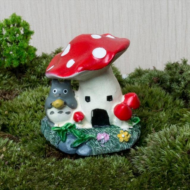 Mini Resin Mushroom House Garden Decoration Accessories Fairy Garden  Miniatures Bonsai DIY Craft Micro Landscaping Decor Garden