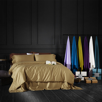 3 4pcs Luxury Egypt Cotton Pure 27 Colors Bedding Set Silky Duvet Cover Set Bedsheet Pillowcase
