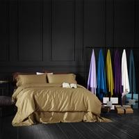 3 4pcs Luxury Egypt Cotton Pure 27 Colors Bedding Set Silky Duvet Cover Set Bedsheet Pillowcase