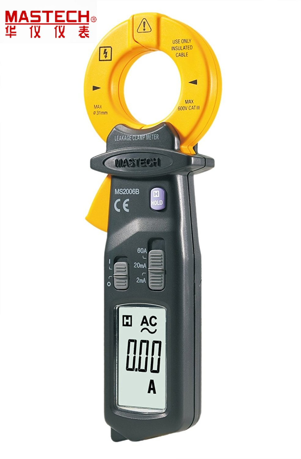 Brand New MASTECH MS2006B Digital Clamp Meters AC Current Tester AC Leakage Clamp Meter 0.001mA Resolution mas tech pro mini mastech ms3302 ac current transducer 0 1a 400a clamp meter test hot sales