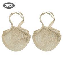 Reusable Cotton Mesh Bag Portable Vegetable And Fruit Storage Lightweight Foldable Safe Harmless