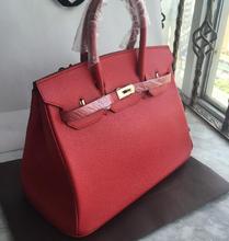 Лучшие моды подлинной leahter женщины handabg бренд дизайнер 35 см сумка горячая слау много цветов серебро/золото замок сумка бесплатная доставка