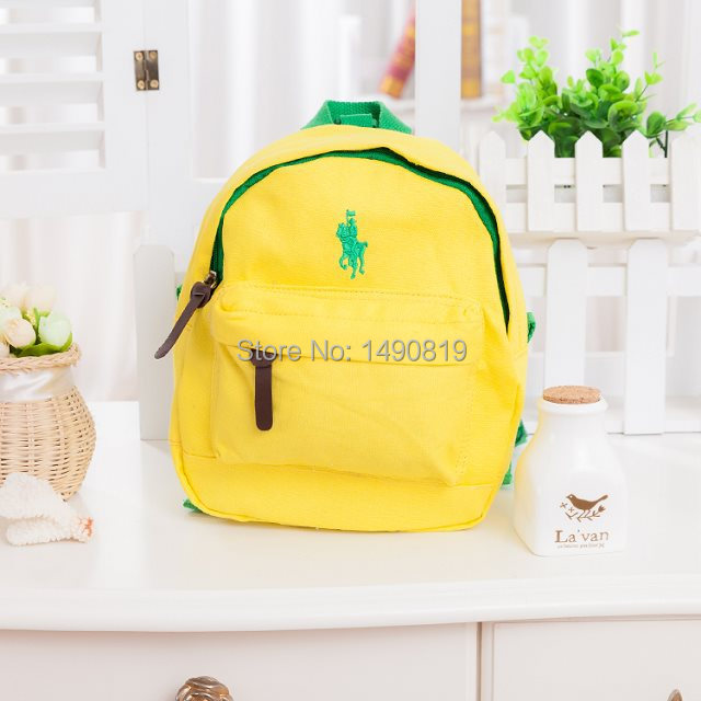 Baby Polo Small School Bags Children Anti Lost Canvas Backpack Kids Kindergarten Bag 100 Cotton Mochila Infantil Satchel In Backpacks From Luggage