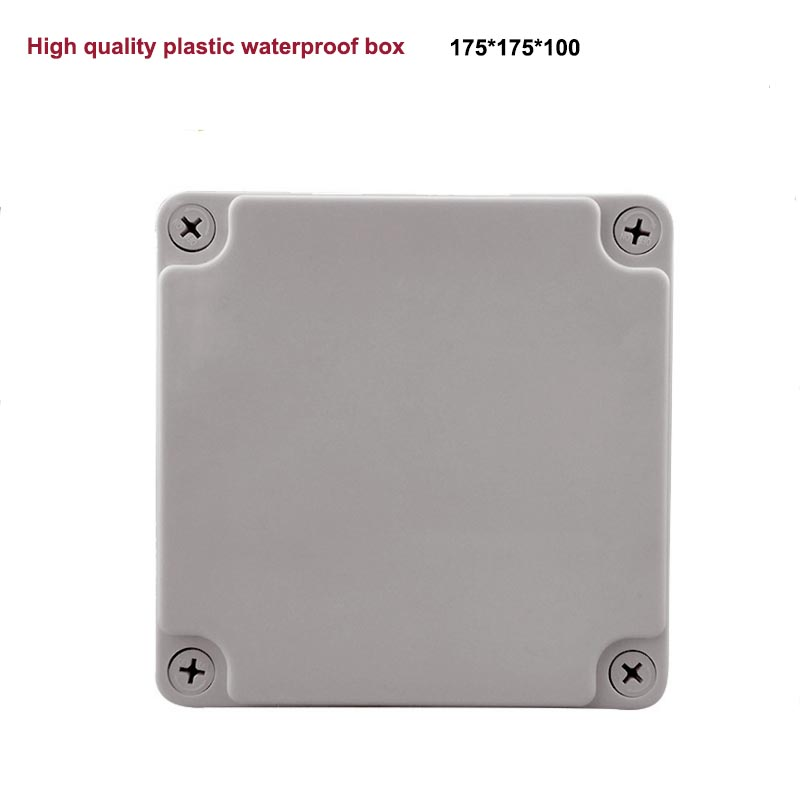 High Quality 175mm x 175mm x 100mm Waterproof Plastic Enclosure Junction Box IP67 IK08 waterproof plastic enclosure case junction box 265mm x 185 mm x 115 mm l15