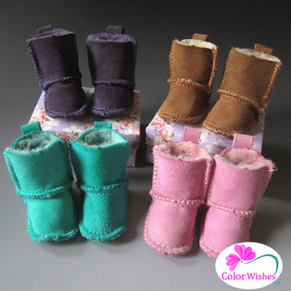 1pcs Mini Shoes for dolls Sheepskin Boots fits BJD Doll Toy for 1/4 1/3 BJD doll and 16 Inch 40cm Sharon doll (No cartons) exclusive handsome martin boots for bjd 1 3 sd10 sd13 sd17 uncle ssdf id ip eid big foot doll shoes sm9