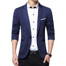 019a1750c4462a Nieuwe Zakelijke Kleding Blazer Mannen Een Knop Mannen Blazer Slim Fit  Kostuum Homme Jasje Mannelijke Blazer L-3XL Smoking Jurk