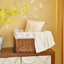 Receiving Box Super Large Rattan Arrangement Coverless Drawer Storage Basket Bed Clothes