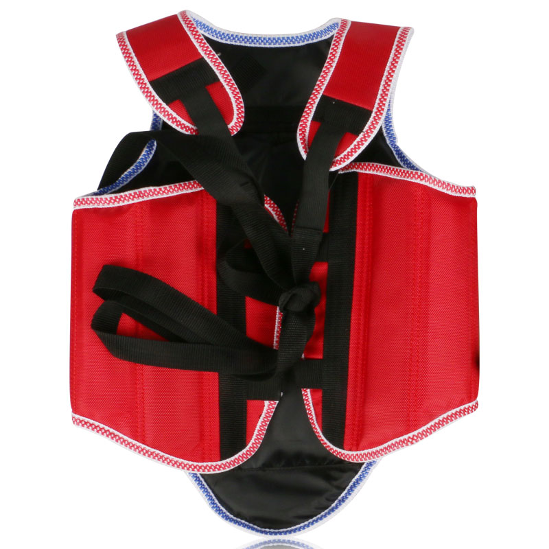 Sanda MMA Boxing Taekwondo Karate Chest Protector Adult Kids Red Black Oxford Chest Guard Gear Vest Protector Body Protective