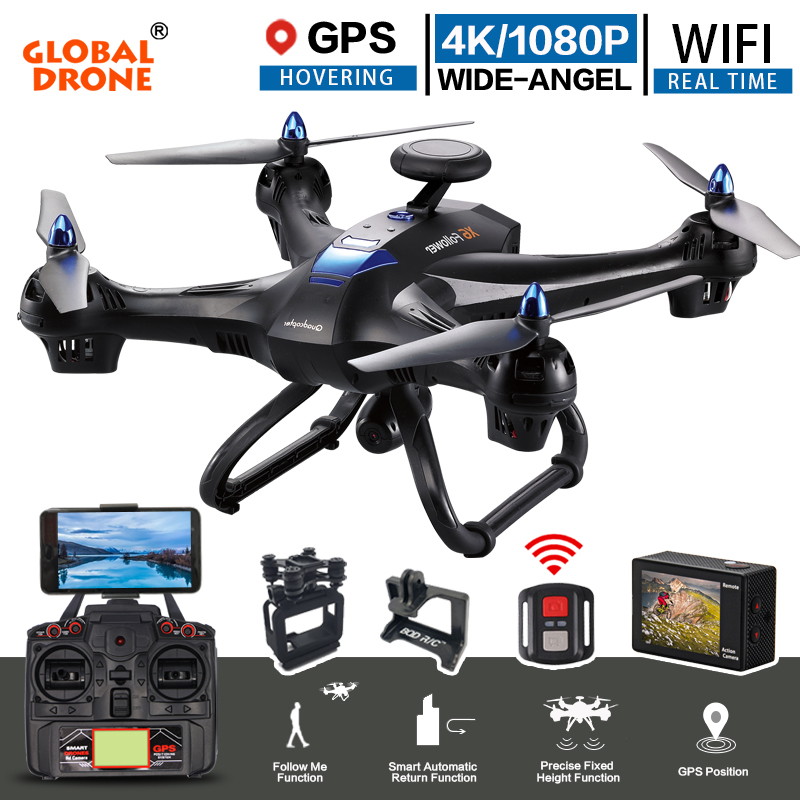 Global Drone X183 Professional Dual GPS Follow Me Quadrocopter with Camera HD RTF FPV GPS Helicopter RC Quadcopter VS X8PRO цена в Москве и Питере