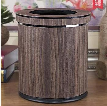 leather cylindric waste basket rubbish basket waste container garbage bin trash can black and coffee trash pack 2139