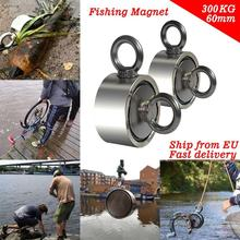 max 200kg Super Strong Magnet Pot Fishing Magnets Salvage Fishing Hook Magnets Strongest Permanent Powerful Neodymium Magnetic 66kg pulling force mounting magnet dia48mm magnetic lifting magnets strong neodymium permanent pot magnet