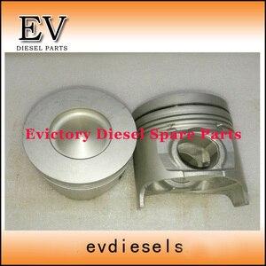 Para Isuzu 4HK1 4HK1T motor reconstruir kit conjunto de anéis de pistão anel de pistão 8-98017166-0 cilindro 4HK1 conjunto forro + kit de vedação completa