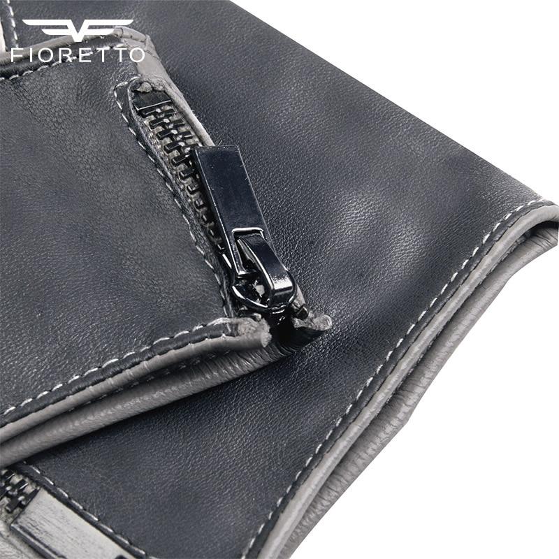 Fioretto Fashion Brand Damen Fingerlose Lederhandschuhe Half Finger - Bekleidungszubehör - Foto 6