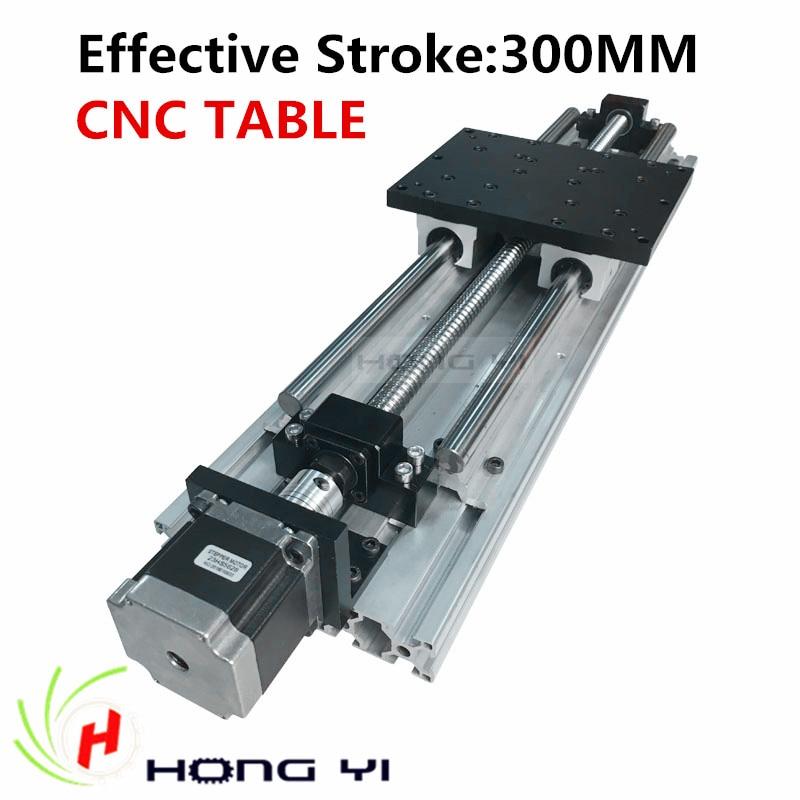 Meilleur prix!! linéaire Modules course effective 300mm Guides Linéaires SBR16 vis à Billes NEMA 23 moteur pas à pas pour CNC table