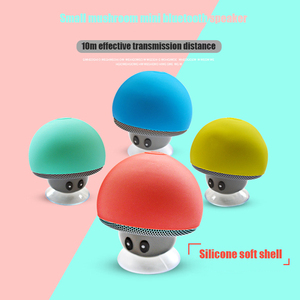 Image 1 - 漫画キノコワイヤレス Bluetooth スピーカー防水吸盤屋外ポータブル電話ブラケット Huawei 社 Xiaomi iphone サムスン