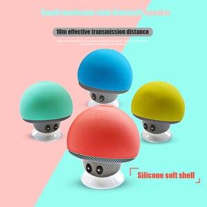 Image 1 - 만화 버섯 무선 블루투스 스피커 방수 빨판 야외 휴대용 전화 브래킷 화웨이 xiaomi 아이폰 삼성