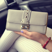2016 High Quality Women Wallets Leather Long Ladies Luxury Purse ladies Designer Wallets Famous Brand Woman