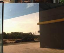 Silver Insulation Window Film Stickers Solar Reflective One Way Tan Mirror G076 Width 30cm~80cm by length 2m