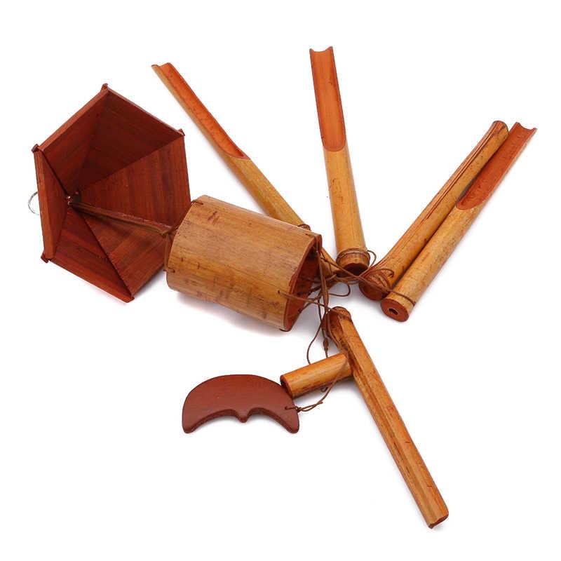 Большие бамбуковые колокольчики для ветра мобильный Windchime церковный колокол висячие украшения домашнего декора ремесла