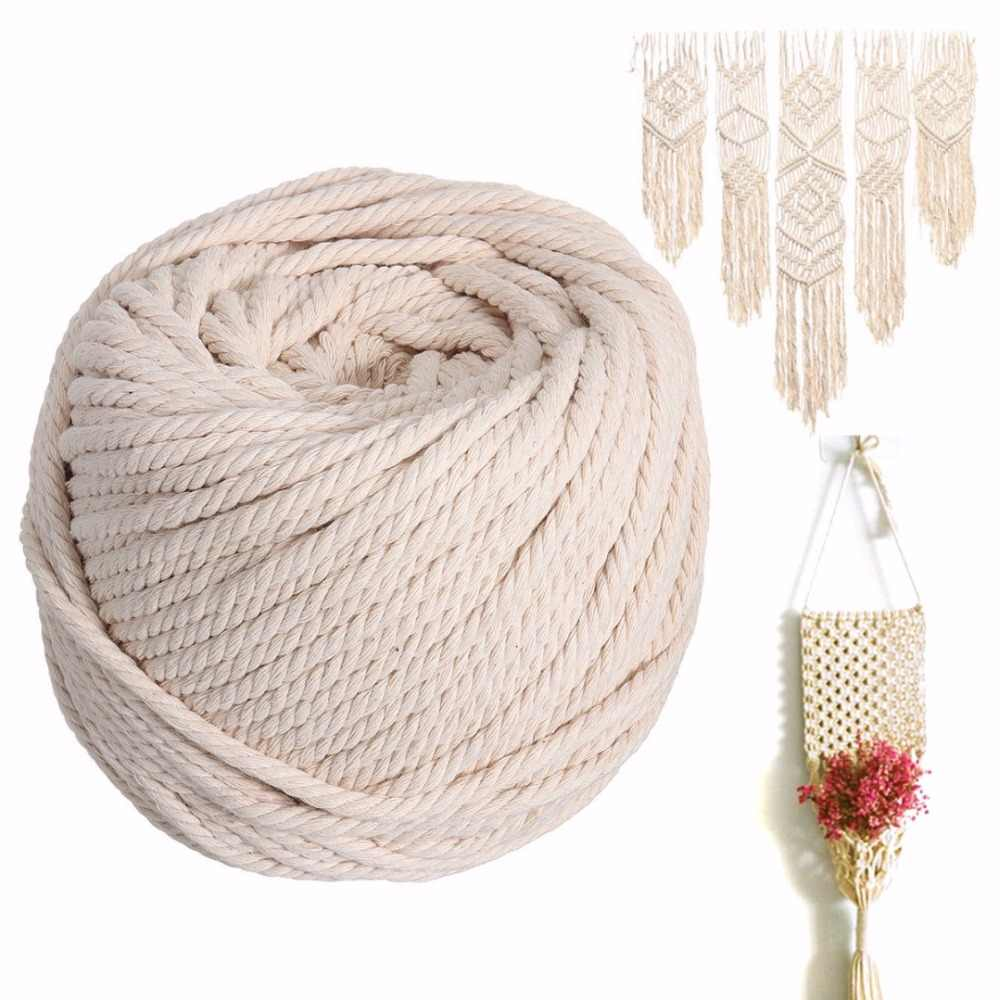 HEALLILY 2mm Macrame Rope Natural Cotton Macrame Cord DIY for Wall Hanging Plant Hanger Craft Making Knitting