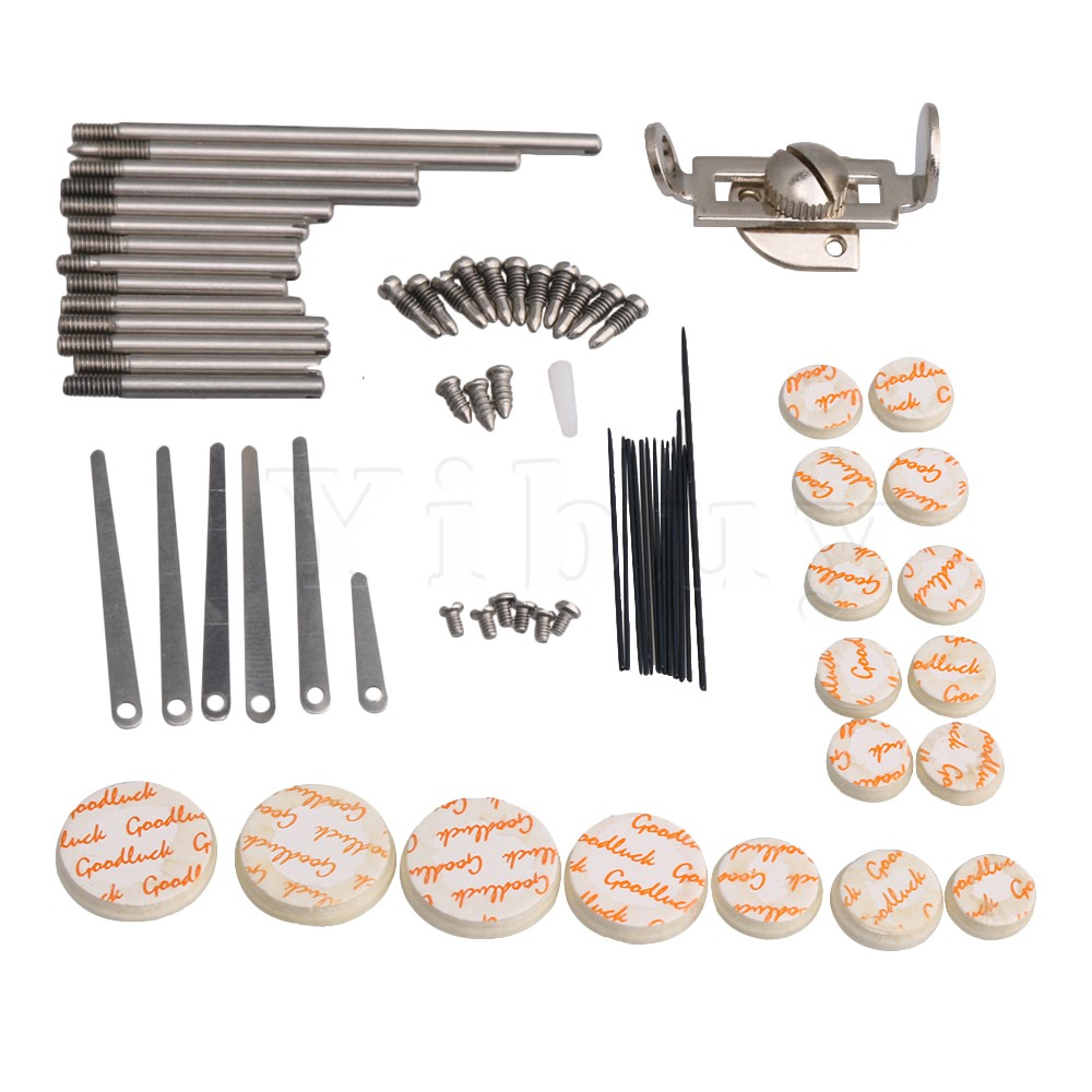 Yibuy Clarinet Repair Kit Reed Top Screw Finger Support Key Shaft Top Screw Reed Pin Wind Type A Musical Instrument Accessory musical instrument repair tools for saxophone flute clarinet repair