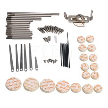 Yibuy Clarinet Repair Kit Reed Top Screw Finger Support Key Shaft Top Screw Reed Pin Wind Type A Musical Instrument Accessory