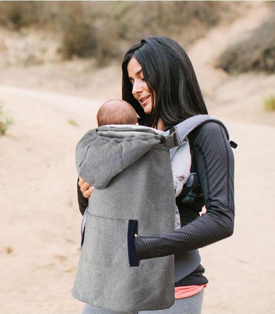 Estilingue Do Bebê Autum e Inverno Quente Manto Reviserble Multifunções Ao Ar Livre Necessário Cinzento Portador Infantil Cobertor Com Capuz