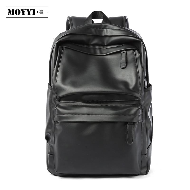 MOYYI из искусственной кожи, мужской рюкзак, дорожная сумка, водонепроницаемый, простой стиль, школьные сумки для подростков, Повседневная модная сумка, противоугонная сумка