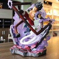 GK Statue ONE PIECE Monkey D. Luffy Four Gear Charlotte Katakuri Full Length Portrait PVC Art Crafts Action Figure Model Toy