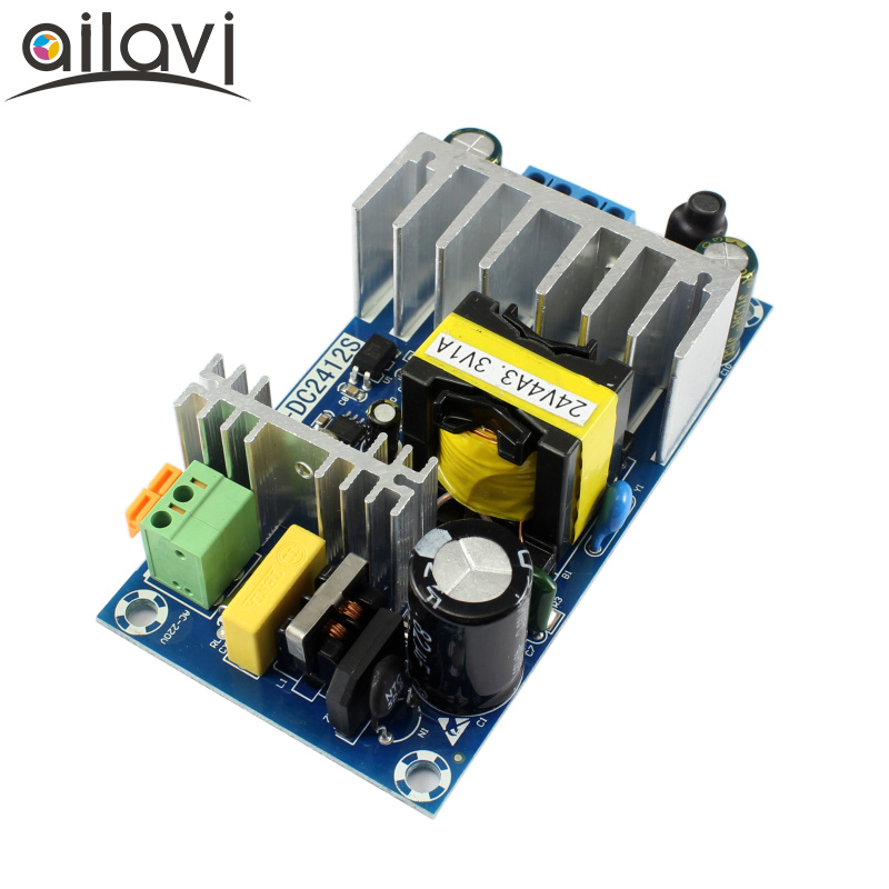 AC-DC Switching Power Supply Module AC110V 220V To DC 24V4A 3.3V1A Dual Output High Power Isolated Power Supply Board 120W 1pcs 36v 180w ac dc switching power supply board high power industrial power supply module