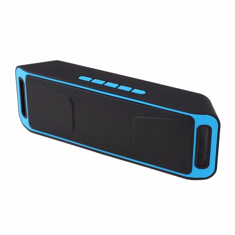 Tragbare Wireless Bluetooth Lautsprecher Stereo Subwoofer USB Lautsprecher TF FM Radio Eingebauter Mic Sound Wechsler SC208