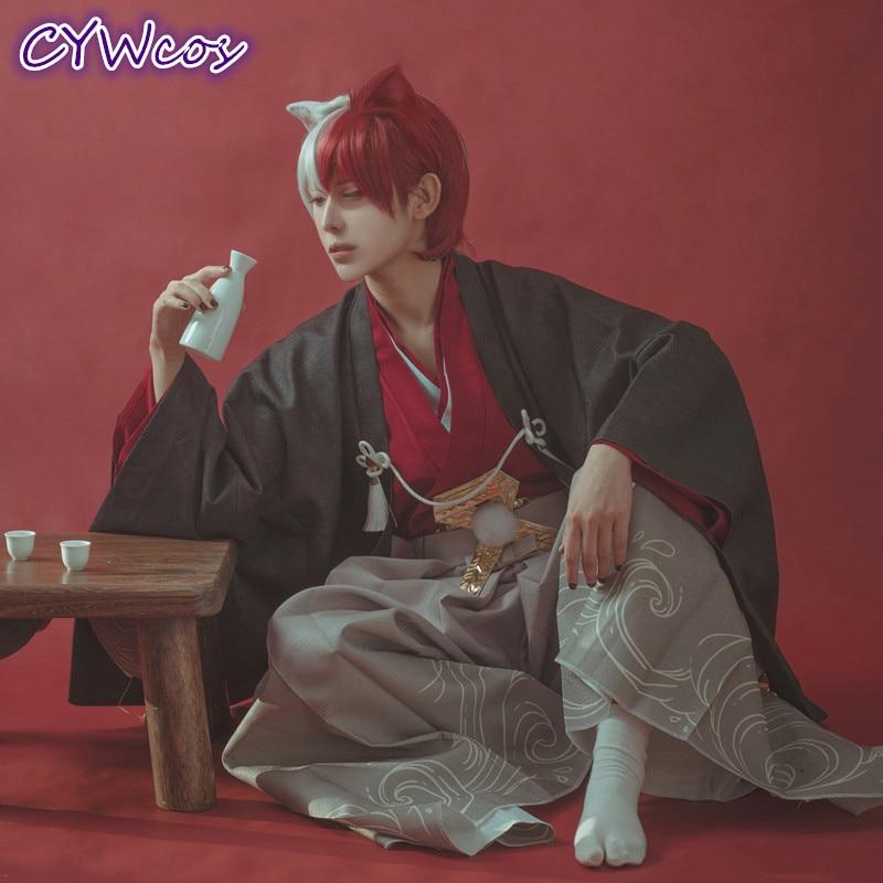 My Hero Academia Todoroki Shoto Cosplay Costume Test Courage Meeting Man Halloween Outfits Kimono