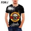 Hombres de la Camiseta Del Patrón de Guns N Roses Camiseta Para Hombre de La Cadera hop streetwear roca negro tee tops pp de fitness masculino brand clothing homme