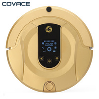 COVACE Robotic Vacuum Cleaner Vacuum Mop Sweep 3 In 1 Cleaner For Pet Hair Wifi Connected