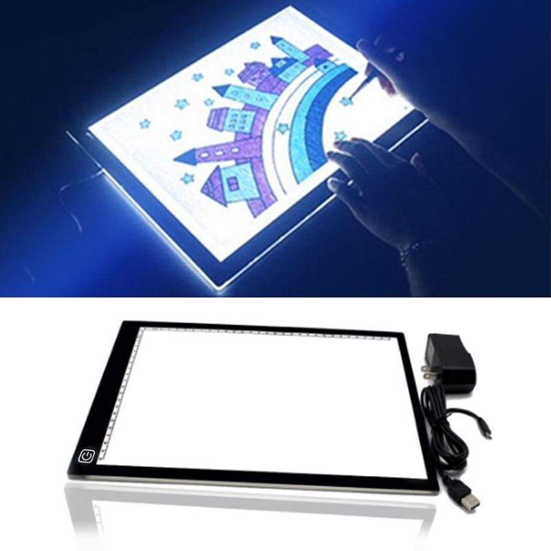Cobee A4DC LED writing tablet Board Drawing boardThin Art Stencil Drawing Display Board Light Box Table 3 Gear Dimming sh120pmb4sv0 3 led ua46d6000 d6400 iogic board