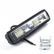 цена на 18W 16LED 6000K Car SUV Flood Beam Work Light Driving Fog ABS + Aluminum Black Lamp Bar 12V-24V 150*35mm LED Work Light