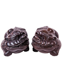Shengwei of hand crafted ornaments African ebony wood carving brave animal home craft ornaments