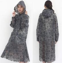 Thickening EVA Print Lace Raincoat font b Women b font Girls Transparent Rain Coat impermeable ponchos