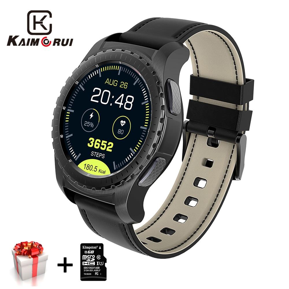 Kaimorui Montre Intelligente Carte SIM Podomètre Fréquence Cardiaque Tracker Bluetooth Smartwatch Hommes Pour Android IOS Montre Téléphone Intelligent Montres