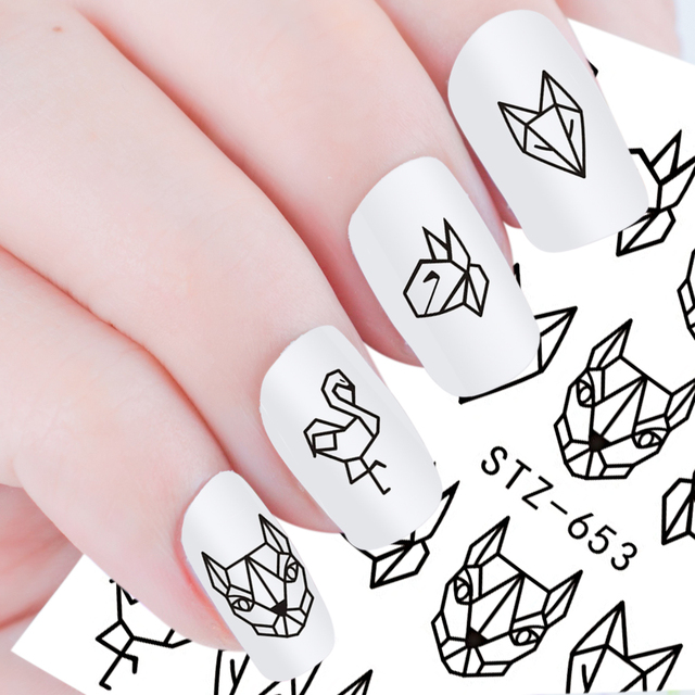 Abstract Image Nail Stickers Set