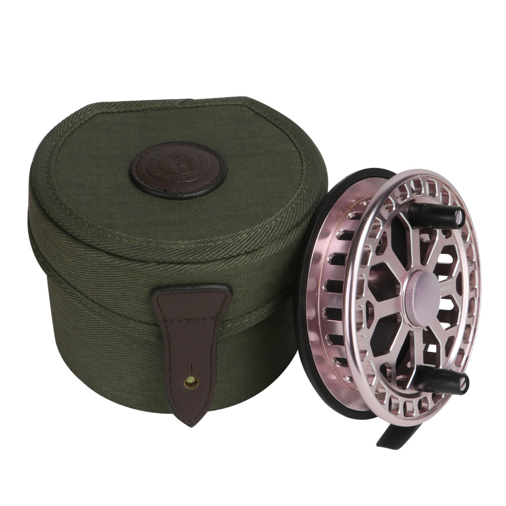 Tourbon Classic Canvas Fly Fishing Reel Case Storage Reel Bosht Vintage Box Të qëndrueshme Mbrojtëse Cover mbështjellëse qese