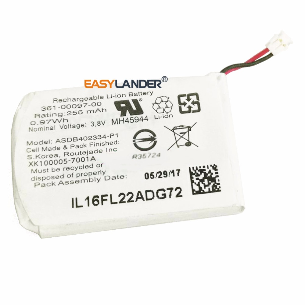 Easylander 3.8V 255mAh Replacement Battery For Garmin fenix 5 GPS sports watch Smart watch MH45944 with connector