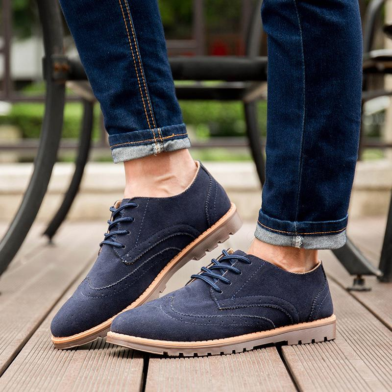 New 2016 Spring Autumn Fashion Casual Men Shoes Lace-up Breathable Retro Genuine Leather Shoes 39-44 Discount Free Shipping 2017 new summer breathable men casual shoes autumn fashion men trainers shoes men s lace up zapatillas deportivas 36 45