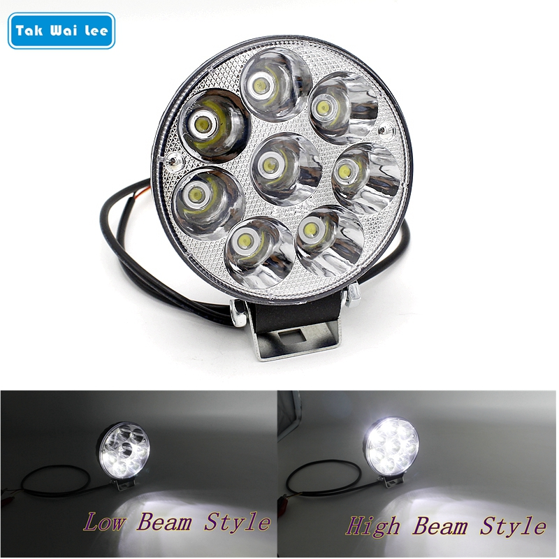 Tak Wai Lee 1X 24W 3.5 Inch LED Car Work Light Waterproof High Low Beam Styling Driving Offroad Truck 4WD SUV Spot Fog Day Lamp