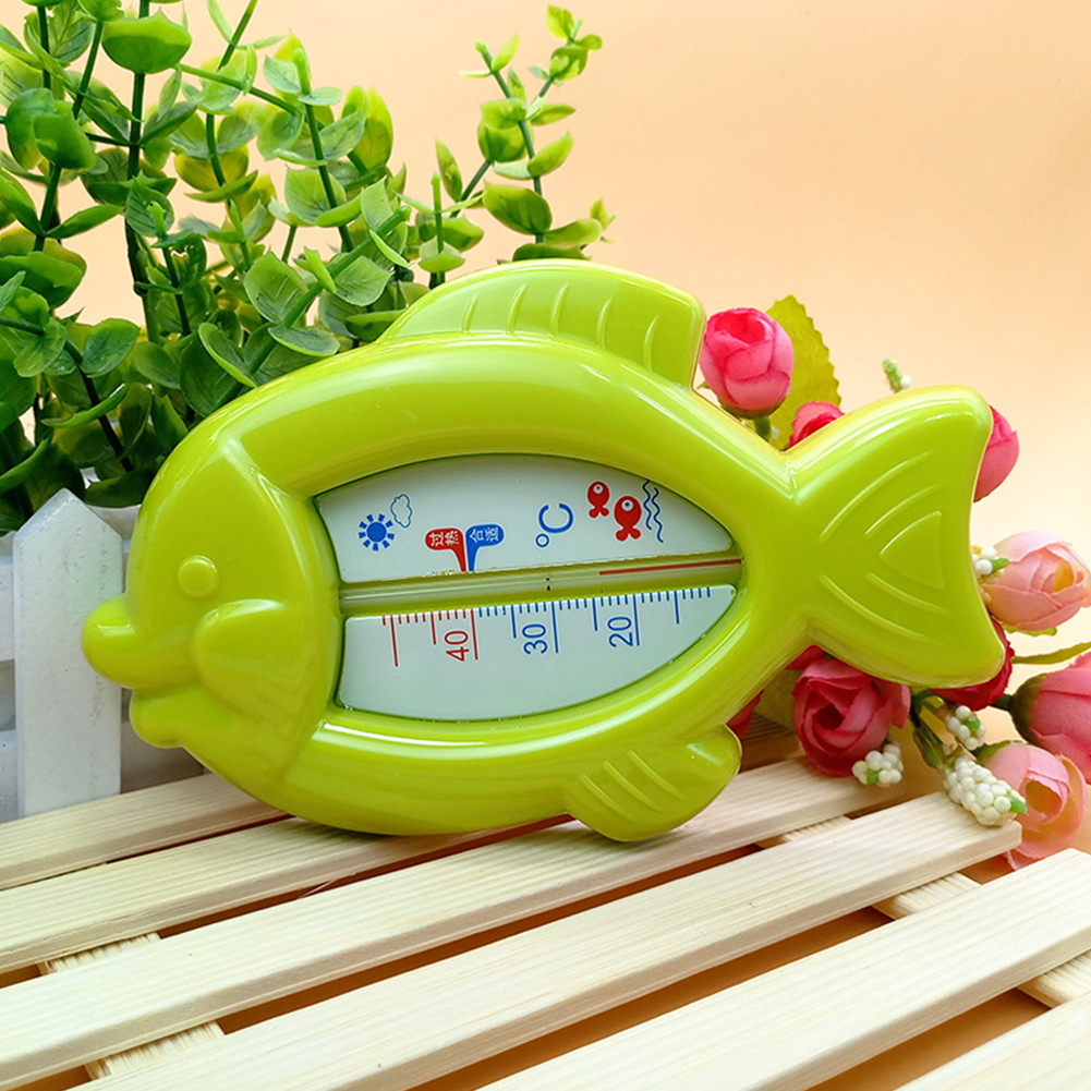 High Quality Cute Baby Floating Fish Water Thermometer Plastic Float Bath Toy Tub Sensor 10-50C W20