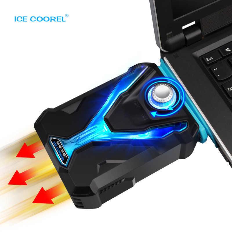 ICE COOREL Laptop Cooler Fast Dropdown CPU Temperature Smart