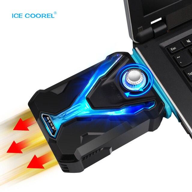 GLACE COOREL Ordinateur Portable Refroidisseur Rapide Déroulant Température  CPU Smart Pad De Refroidissement Pour Ordinateur Portable aa10f4d3346d