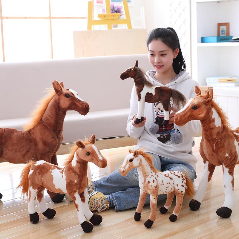 2018 New Arrival 30/40cm Simulation Horse Plush Toys Cute Staffed Animal Unicorn Doll Soft Kids Birthday Gift Home Decoration