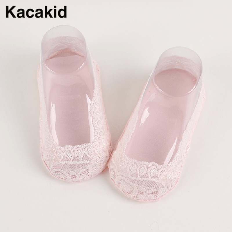 Boat Socks Summer Princess Invisible Anti-Skid Hollow Out Lace For Baby Girls
