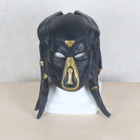 New 2018 Movie The Predator Mask Helmet Antenna Latex Halloween Party Horror Face Head Cosplay Mask with Long Hair On Sale!!!